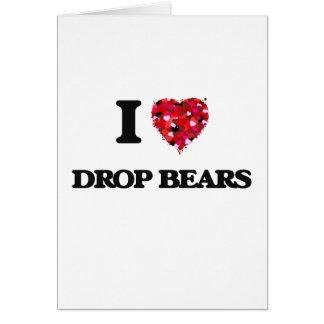 Amo osos del descenso tarjeta de felicitación
