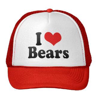 Amo osos gorras