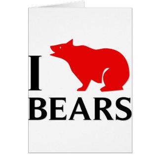 Amo osos tarjeton