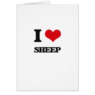 Amo ovejas tarjeta de felicitación