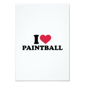Amo Paintball Invitación 8,9 X 12,7 Cm