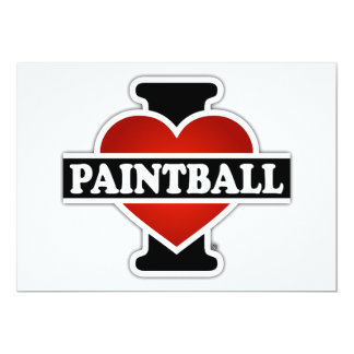 Amo Paintball Invitación 12,7 X 17,8 Cm