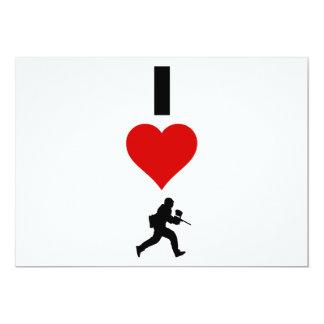 Amo Paintball (vertical) Invitación 12,7 X 17,8 Cm