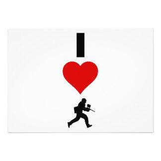 Amo Paintball (vertical) Invitacion Personalizada