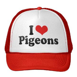 Amo palomas gorros bordados