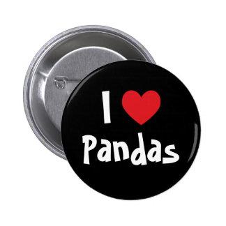 Amo pandas chapa redonda de 5 cm