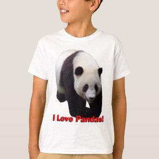 ¡Amo pandas! La panda gigante embroma la camisa