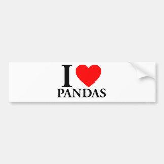 Amo pandas pegatina de parachoque