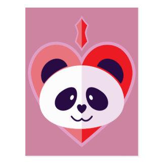 Amo pandas. postal
