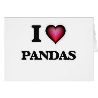 Amo pandas tarjeta de felicitación