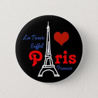 Amo París. Eiffel romántico Chapa Redonda De 5 Cm