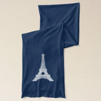Amo París - modelo del cordón de la torre Eiffel Bufanda