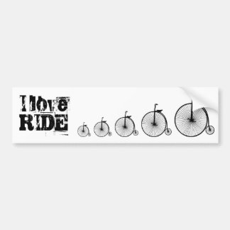 Amo paseo una bicicleta pegatina para coche