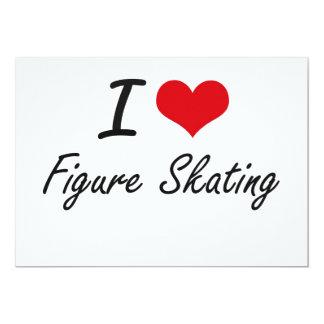 Amo patinaje artístico invitación 12,7 x 17,8 cm