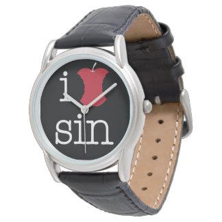 Amo pecado reloj de pulsera