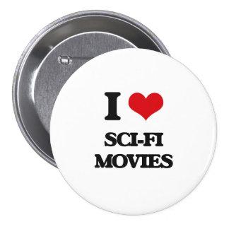 Amo películas de la ciencia ficción chapa redonda 7 cm