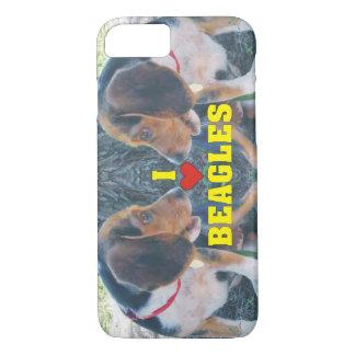 Amo perritos del beagle de los beagles funda iPhone 7