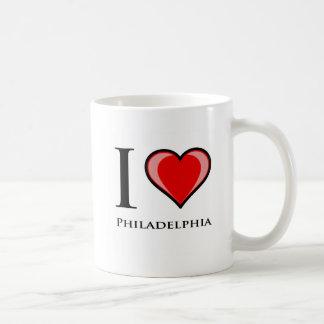 Amo Philadelphia Taza Básica Blanca