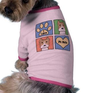 Amo Pitbulls Camisa De Mascota