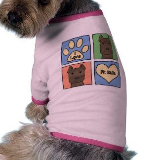 Amo Pitbulls Camisetas De Perrito