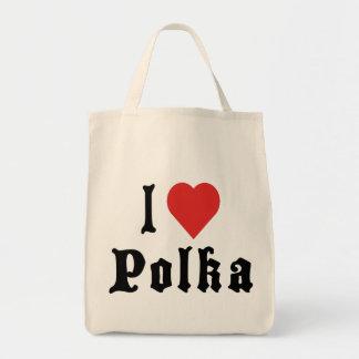 Amo polca bolsa tela para la compra