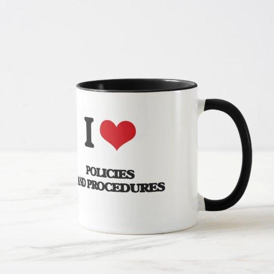 Amo políticas y procedimientos taza
