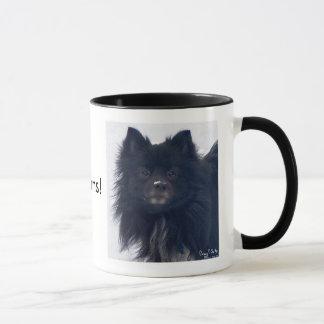 """""""AMO Pomeranians!"""" Taza de la pintura de la"""