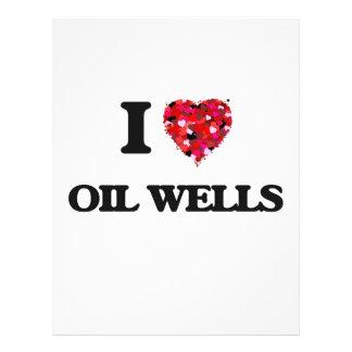 Amo pozos de petróleo folleto 21,6 x 28 cm