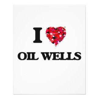 Amo pozos de petróleo folleto 11,4 x 14,2 cm
