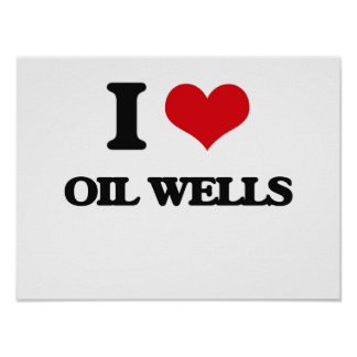 Amo pozos de petróleo póster