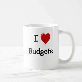 Amo presupuestos del corazón de los presupuestos I Taza De Café