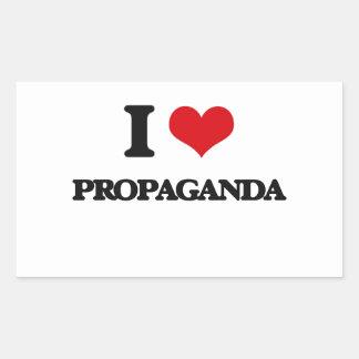 Amo propaganda rectangular pegatinas