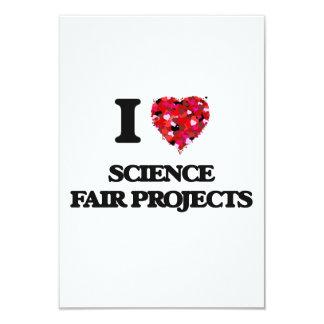 Amo proyectos de la feria de ciencia invitación 8,9 x 12,7 cm