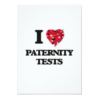 Amo pruebas de paternidad invitación 12,7 x 17,8 cm