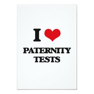 Amo pruebas de paternidad invitación 8,9 x 12,7 cm