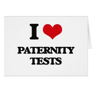 Amo pruebas de paternidad felicitacion