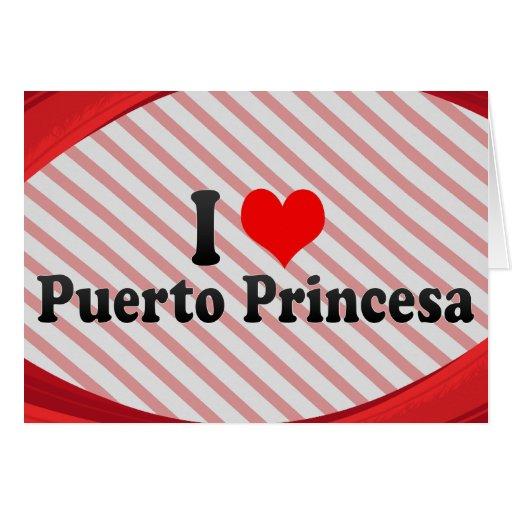 Amo Puerto Princesa, Filipinas Tarjetón
