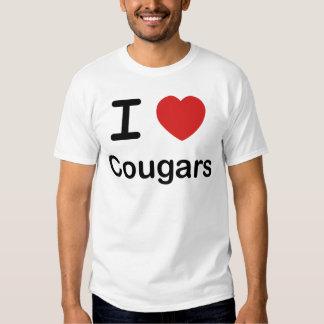 Amo pumas camiseta