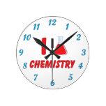 Amo química (del frasco) reloj de pared