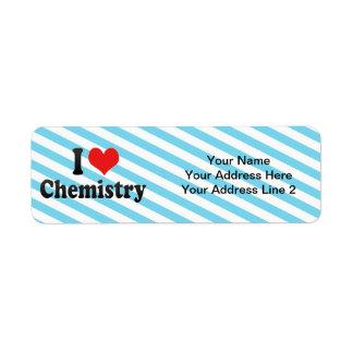 Amo química etiqueta de remite