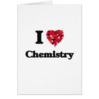 Amo química tarjeta de felicitación