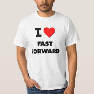 Amo rápidamente adelante camisetas