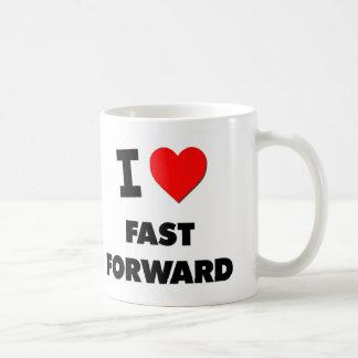 Amo rápidamente adelante taza