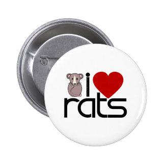 Amo ratas chapa redonda de 5 cm