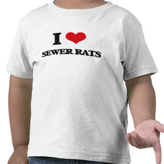 Amo ratas de alcantarilla camisetas