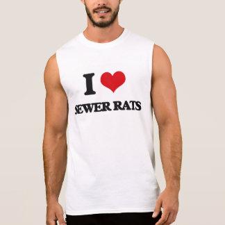 Amo ratas de alcantarilla camisetas sin mangas