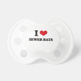 Amo ratas de alcantarilla chupetes para bebes