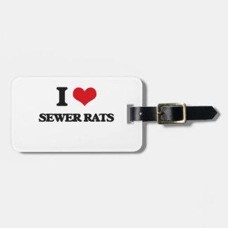 Amo ratas de alcantarilla etiquetas maleta
