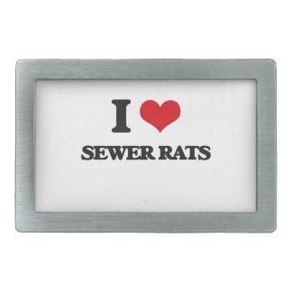 Amo ratas de alcantarilla hebilla cinturon rectangular