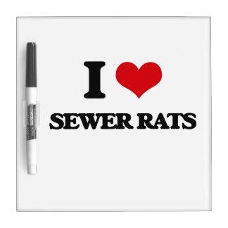 Amo ratas de alcantarilla pizarras blancas